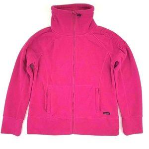 Calvin Klein Womens Fleece Jacket Hot Pink Long Sl
